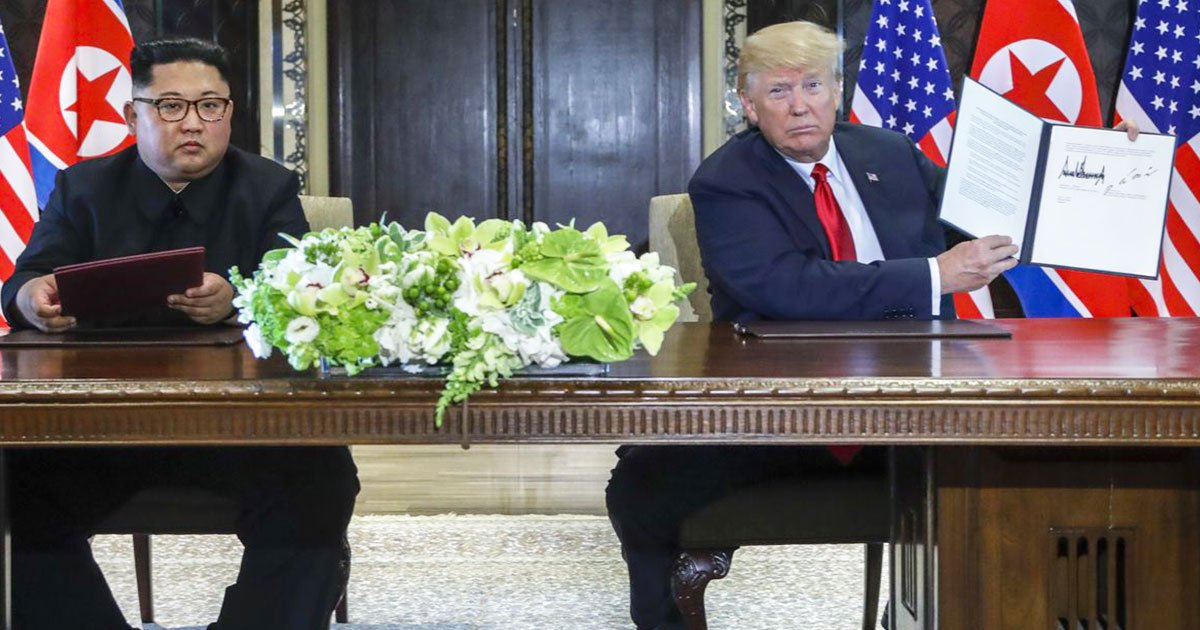 donald trump and kim jong un agree to work toward denuclearization.jpg?resize=1200,630 - Trump and Kim Agree To Return US Military Remains From Korean War