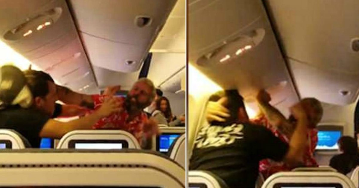drunk passenger.jpg?resize=636,358 - Drunk Man Is Arrested For Attacking A Passenger Sitting Behind Him On A Flight For No Reason