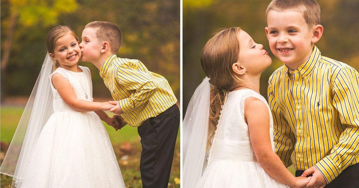 dsfasdf.jpg?resize=412,232 - Un deseo realizado: estas lindas fotografías de boda de estos niños de cinco años derretirán tu corazón