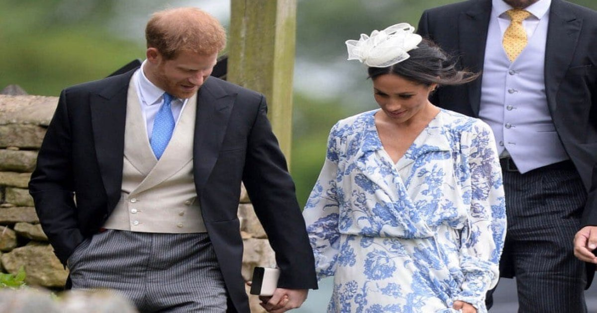 duke and ducces 1.jpeg?resize=300,169 - The Duke and Duchess of Sussex Attended A Family Wedding- The Bride Wore The Same Tiara As Diana Wore On Her Wedding