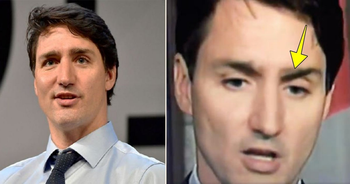 e side.jpg?resize=1200,630 - The Internet Is Going Mad Over A Conspiracy Theory That Justin Trudeau Appears To Lose An Eyebrow