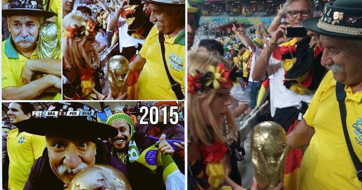 e69caae591bde5908d 1 8.png?resize=1200,630 - 巴西超狂粉球迷爺爺自1990年參與各界賽事,過世後兒子繼承...故事有洋蔥!