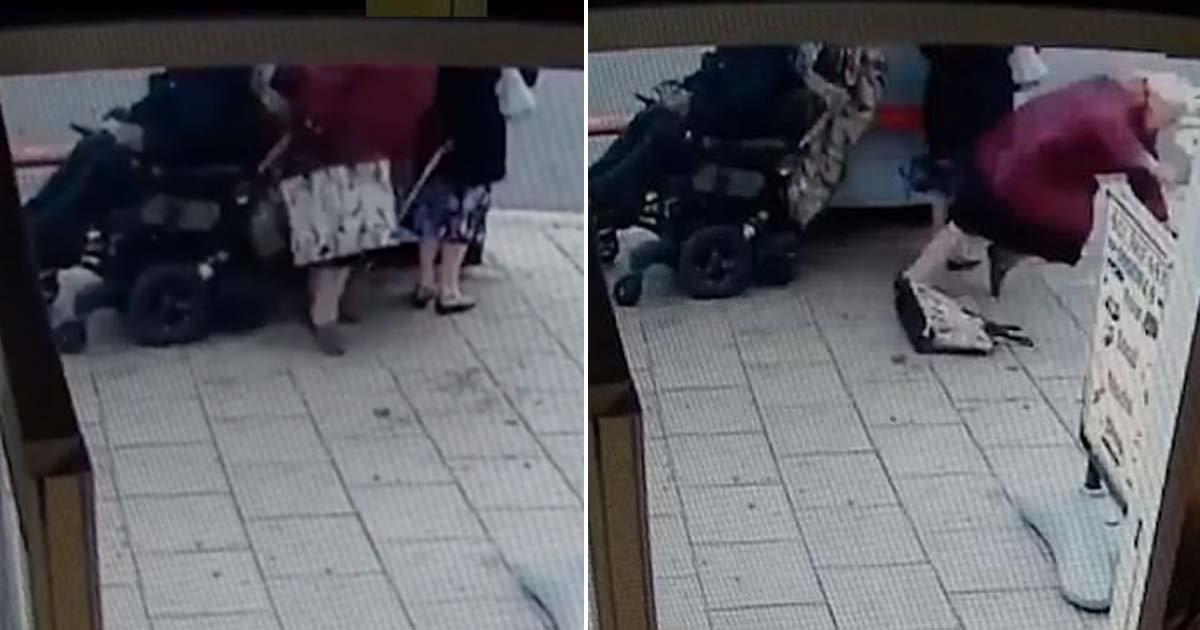 ebacb4eca09c 1 ebb3b5ec82ac 122.jpg?resize=636,358 - Man On Electric Wheelchair Knocks Over Two Elderly Women For No Reason