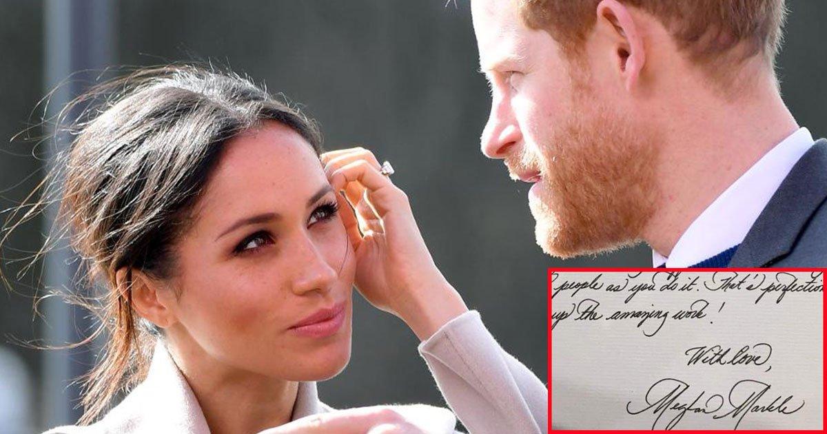 experts reveal why meghan markles handwriting has changed since she met prince harry.jpg?resize=412,232 - Les experts révèlent pourquoi l'écriture de Meghan Markle a changé depuis qu'elle a rencontré le prince Harry