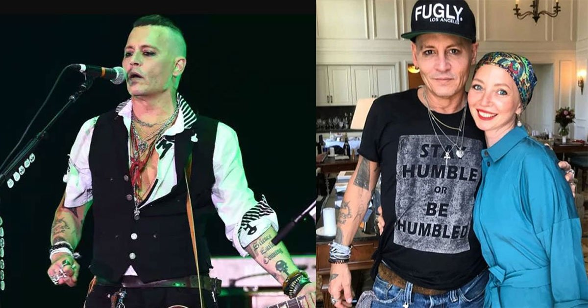 fans of johnny depp showed concern after he appeared pale and gaunt during european tour.jpg?resize=412,232 - Des fans montrent leur inquiétude pour Johnny Depp après qu'il soit apparu sur scène avec son groupe de musique.