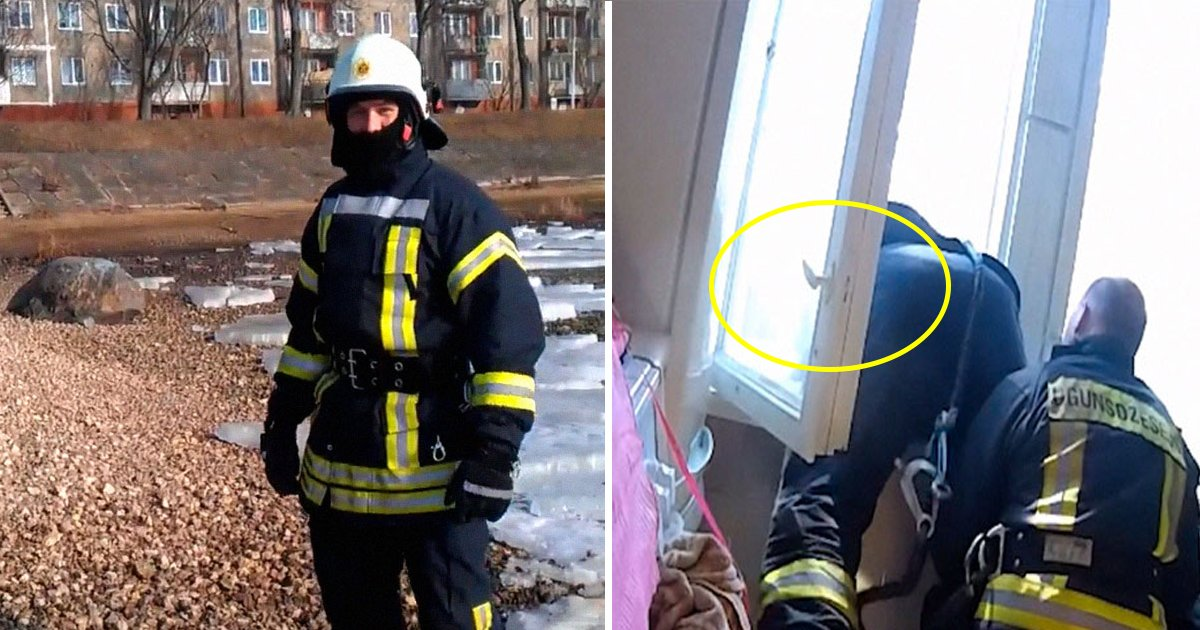 fireman.jpg?resize=636,358 - The Way This Latvian Fireman Catches A Suicidal Woman Falling To Her Death Stuns The Internet