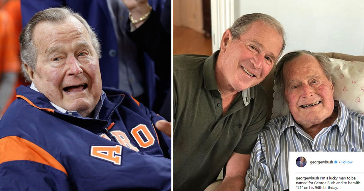 george h w bush turned 94 family paid tribute on his 94th birthday fi.jpg?resize=412,232 - George H. W. Bush Turned 94, Family Paid Tribute On His 94th Birthday