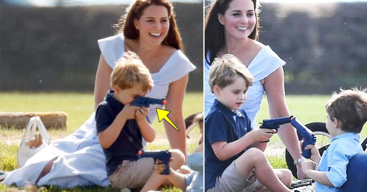 gg side.jpg?resize=300,169 - Pictures Of Prince George Playing With A Toy Gun During Polo Day Out Sparked Controversy