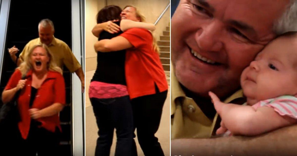 gpp.png?resize=412,232 - Estes avós mostram reações preciosas quando encontram seu neto recém-nascido pela primeira vez