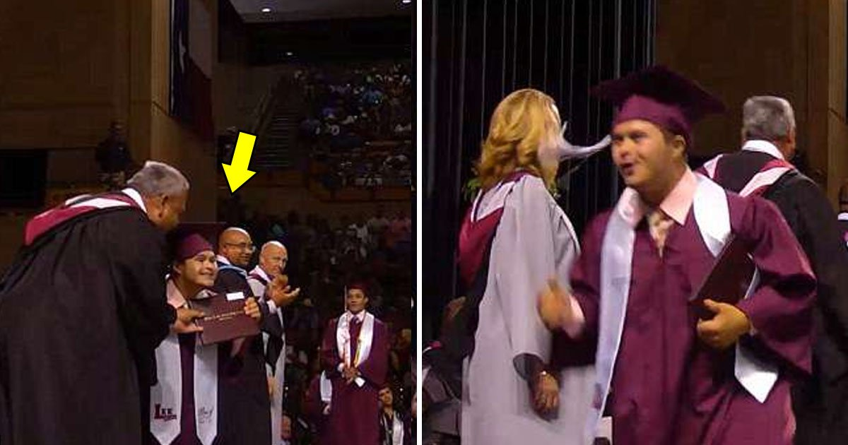 graduated.jpg?resize=300,169 - M. Joyous, un étudiant atteint de trisomie a sauté partout et dansé lors de sa remise de diplôme