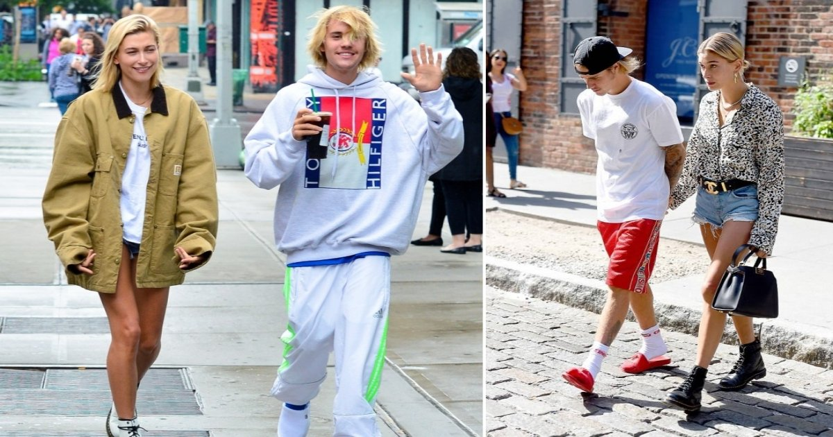 hb side.jpg?resize=300,169 - Justin Bieber Leaves NYC Eatery Hand-In-Hand With Girlfriend Hailey Baldwin