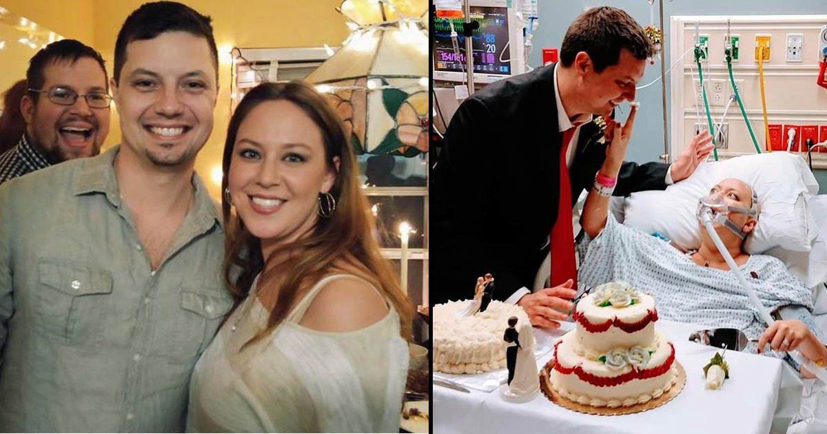 heather and david.jpg?resize=300,169 - A Woman With Cancer Gets Married In A Hospital, Dies 18 Hours Later