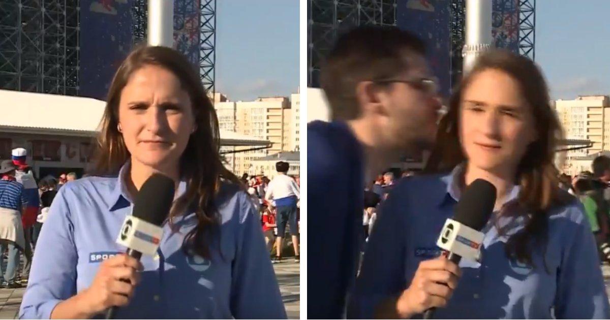 julia1.png?resize=300,169 - Torcedor assedia repórter da Globo e ela reage ao vivo