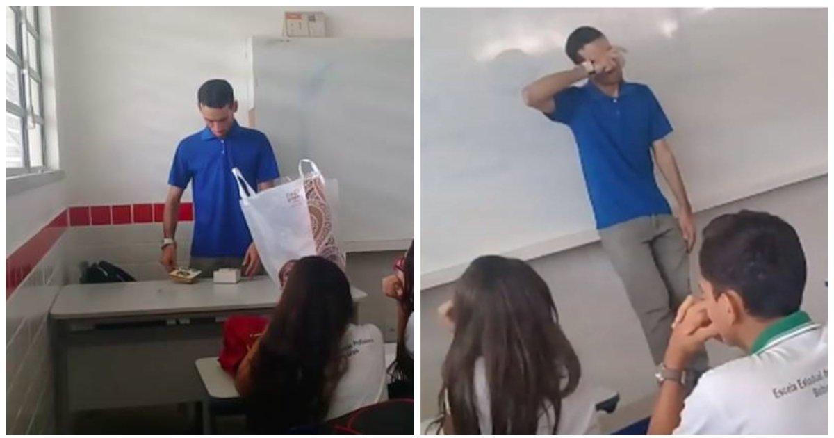 layout 2018 6 18 4.jpg?resize=412,232 - Des élèves préparent un cadeau surprise pour leur enseignant qui dort et mange à l'école