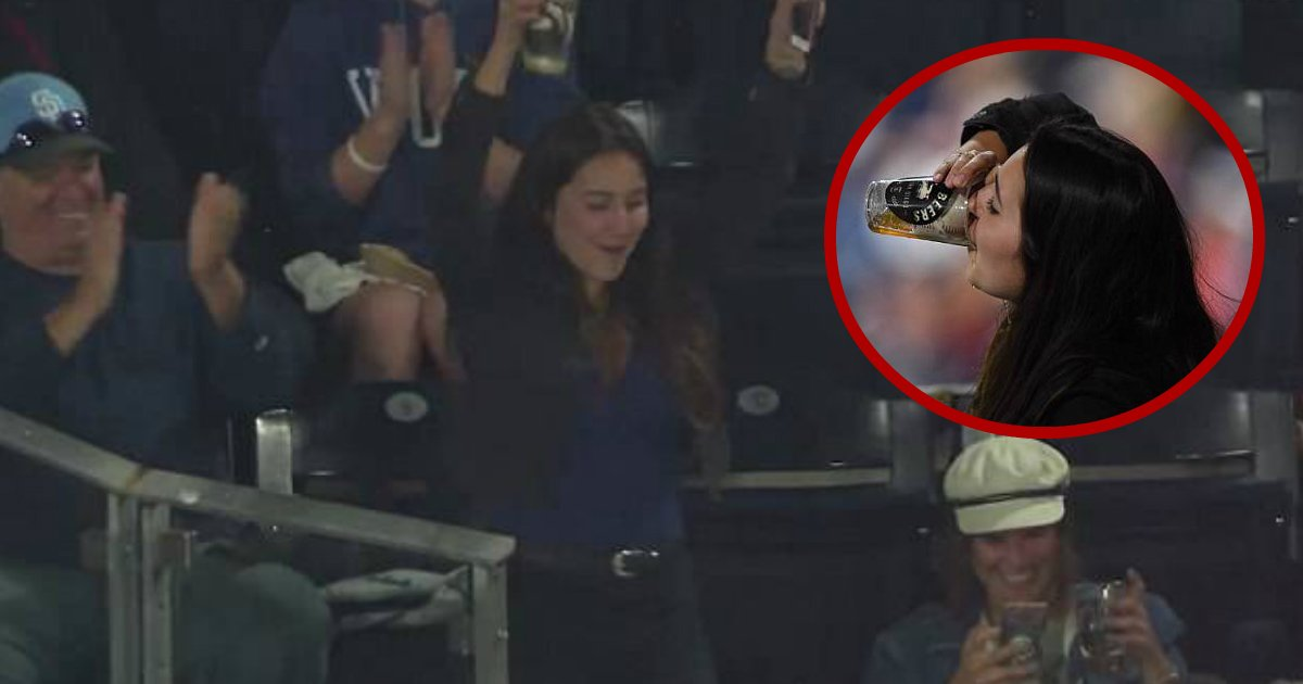 lucky catch.jpg?resize=300,169 - Lucky Baseball Fan Caught Foul Ball In Her Beer Pint And Chugged The Beer With Ball In It