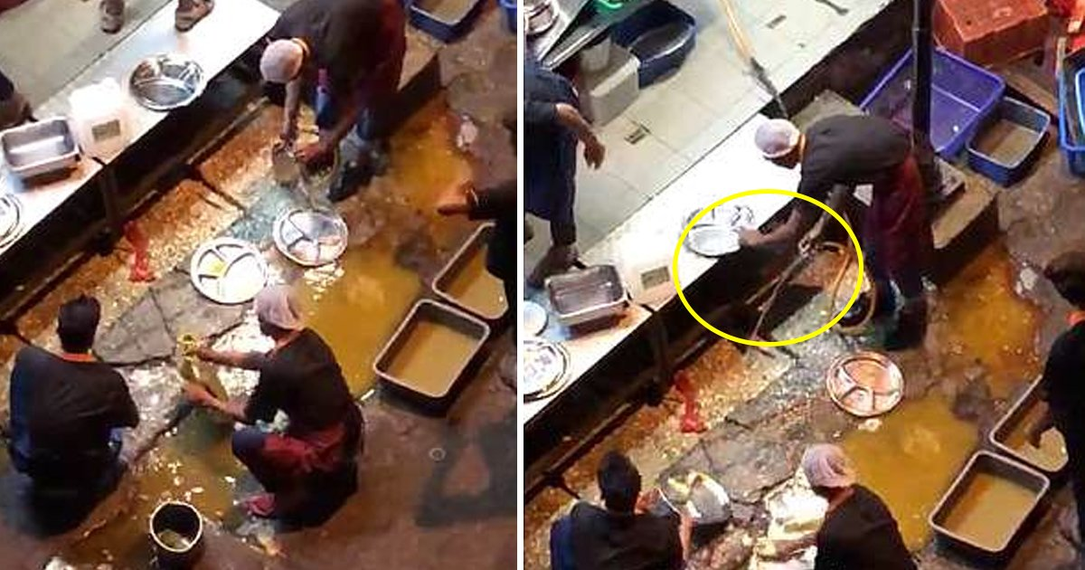 malaysia 1.jpg?resize=300,169 - Malaysian Restaurant Caught Out Washing Plates in a Puddle on the Street