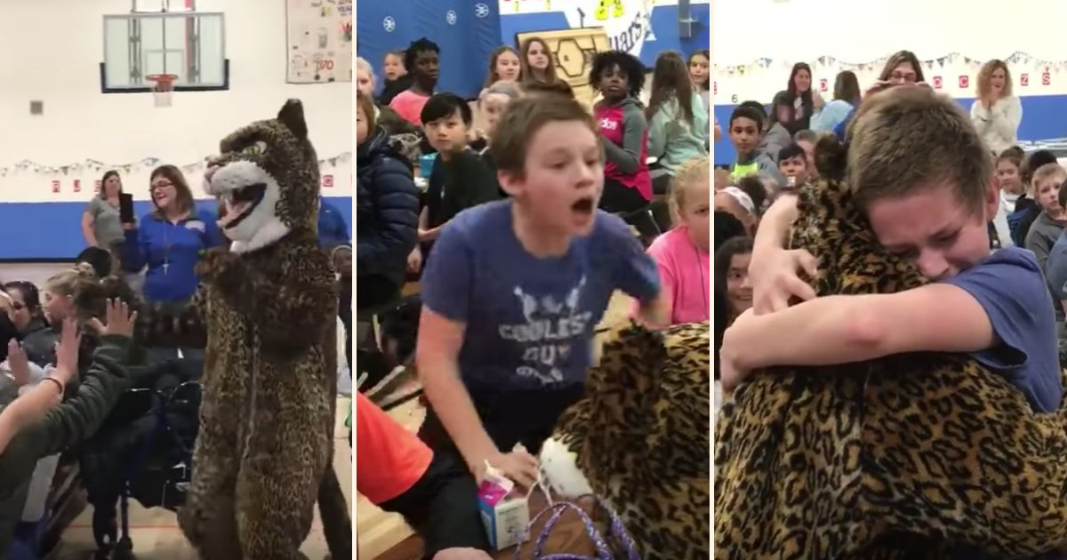 mmm.png?resize=412,275 - Military Mom Dressed Up As A School Mascot To Surprise Her Son After Returning From Overseas