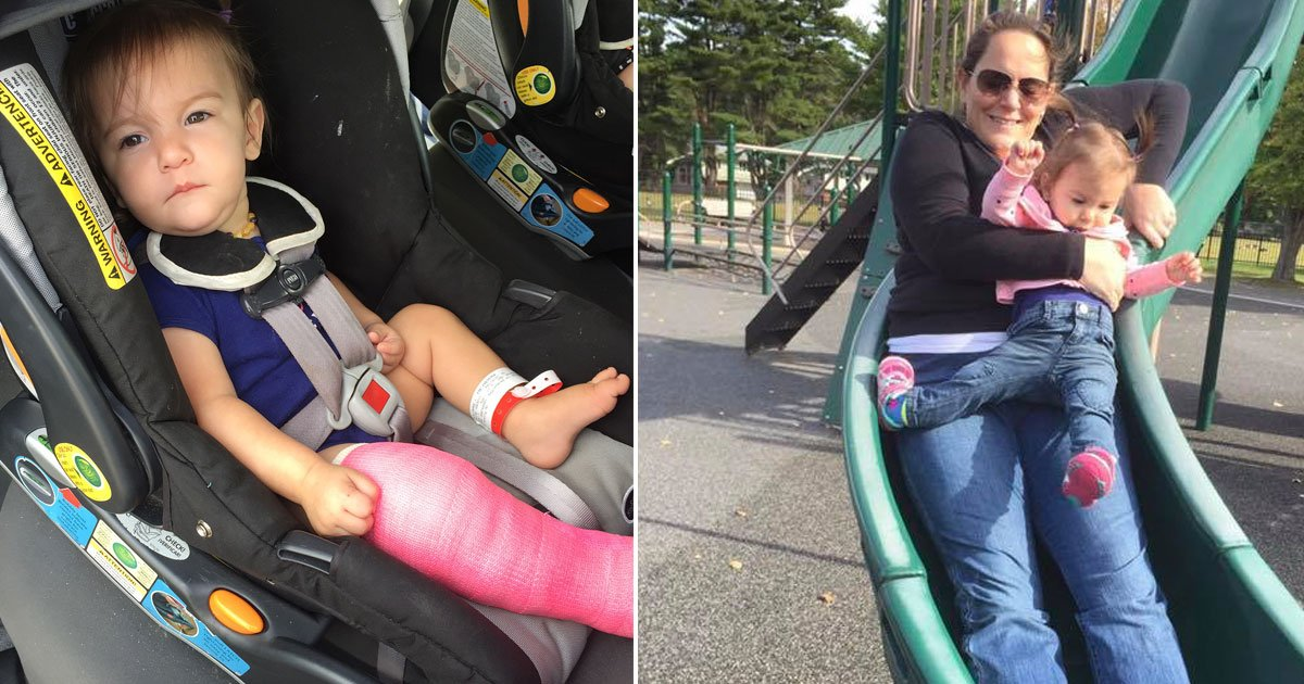 mother of a one year old warns parents never to go on a slide with your child on your lap 1.jpg?resize=636,358 - Mother Of A One-Year-Old Warns Parents 'Never To Go On A Slide With Your Child On Your Lap'