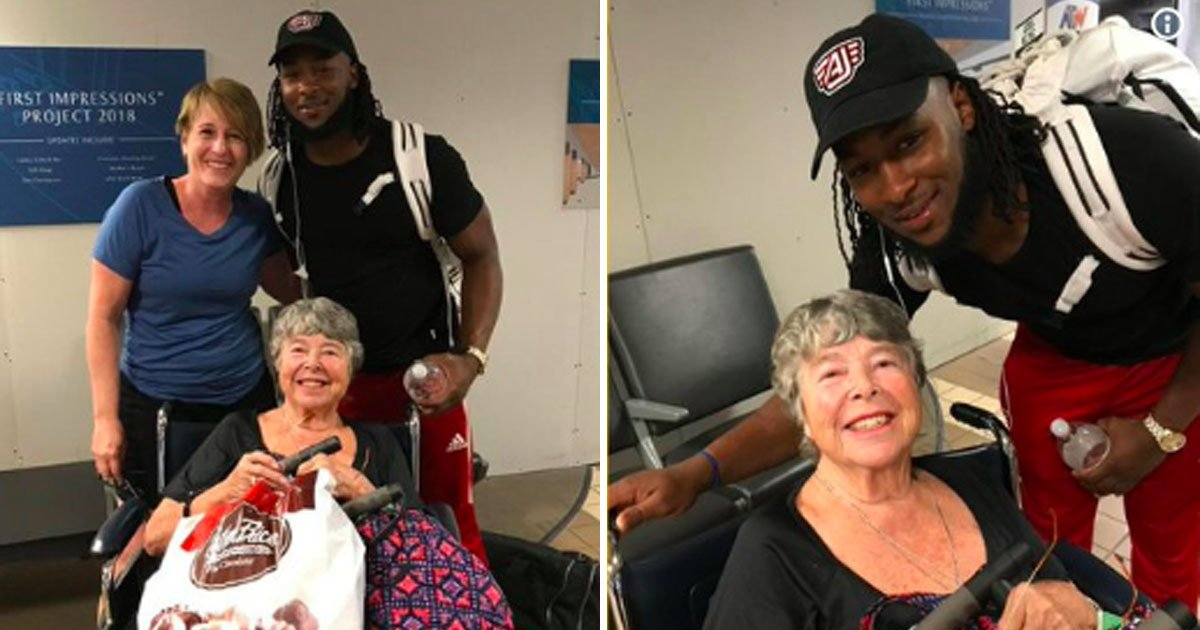 nfl.jpg?resize=1200,630 - NFL Player Didn't Think Twice And Helped Elderly Woman At Airport
