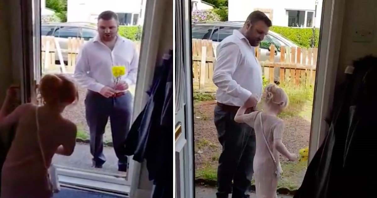 pic copy 16.jpg?resize=648,365 - Man Turns Up With Flowers To Take His 6-Year-Old Step-Daughter On Their First 'Date Night'