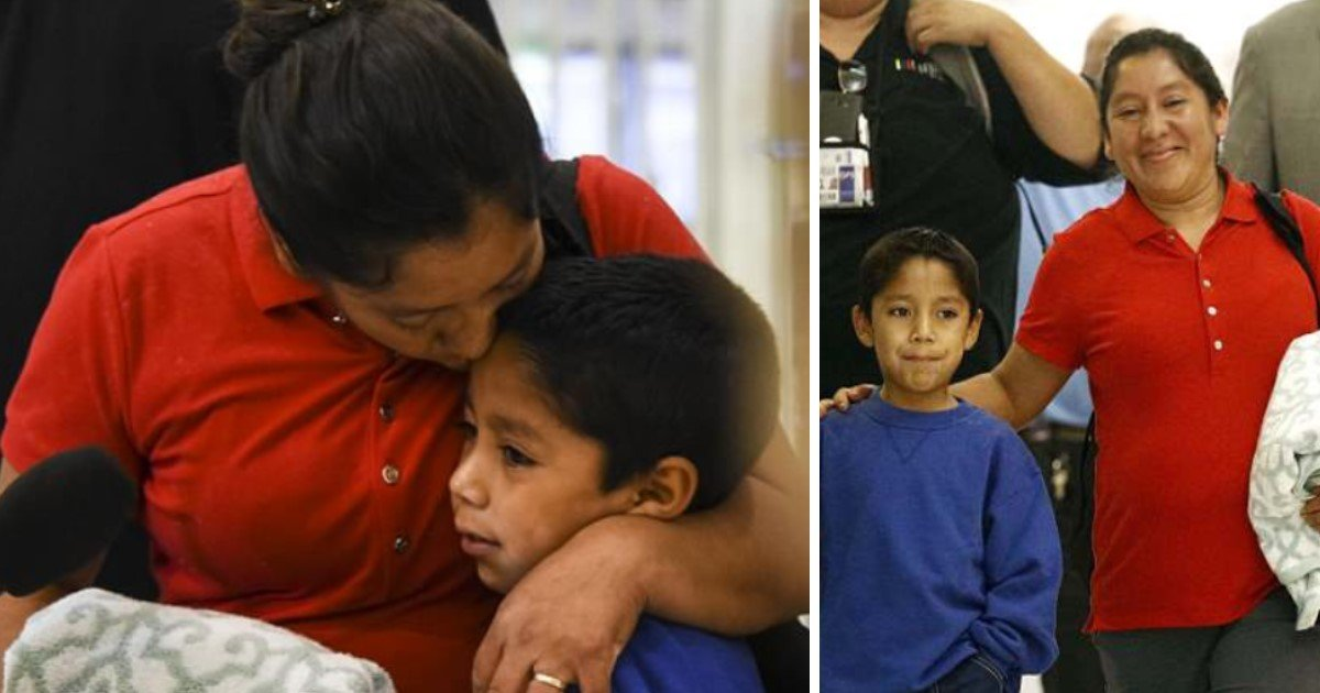 pic copy 2 16.jpg?resize=1200,630 - Migrant Mother Finally Reunited With Her 7-Year-Old Son After Being Separated At Border