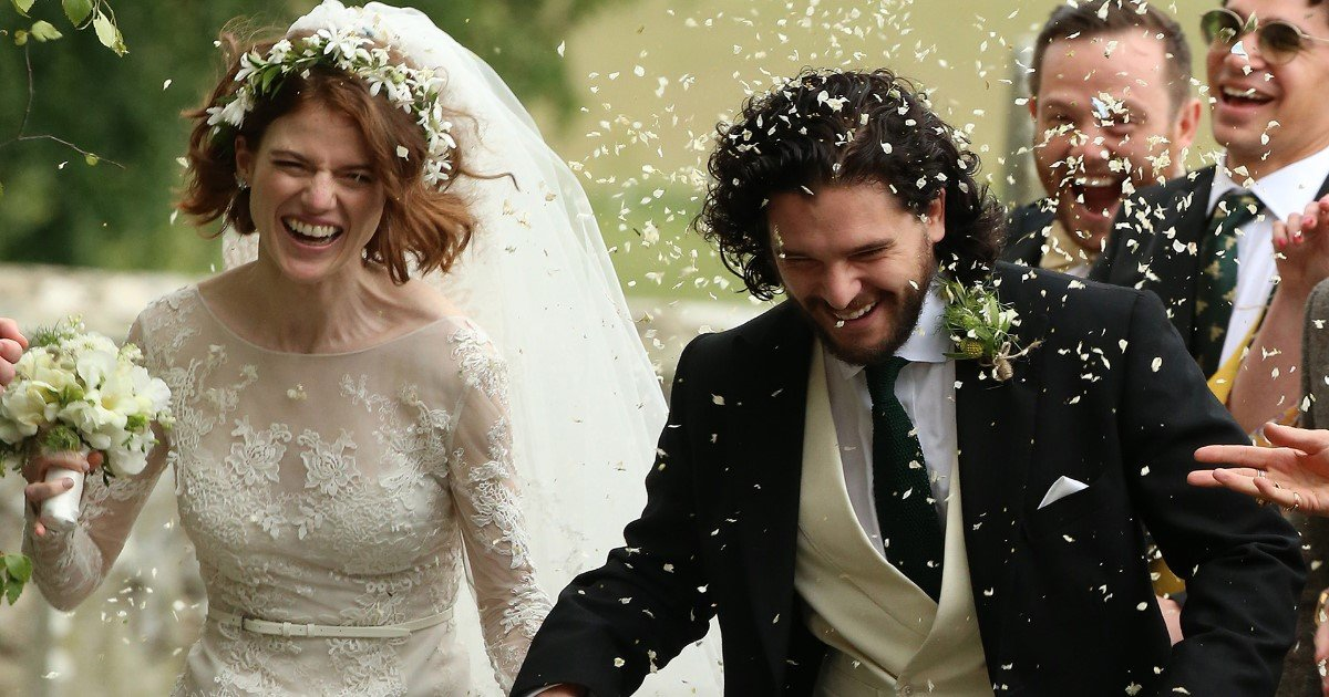 pic copy 2 17.jpg?resize=636,358 - Game Of Thrones Stars Kit Harington And Rose Leslie Tie The Knot In Star-Studded Wedding In Scotland