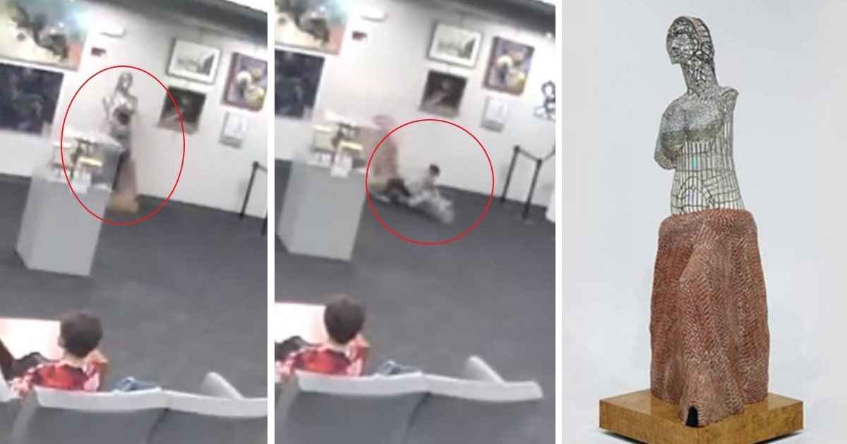 pic copy 3 4 1.jpg?resize=412,275 - Mother Refuses To Accept The Blame After Getting Fined $132,000 For Sculpture Destroyed By Her Son