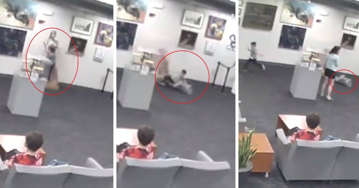pic copy 3 4.jpg?resize=412,232 - Mother Facing $132,000 Fine After Her 5-Year-Old Boy Knocked Over A Sculpture