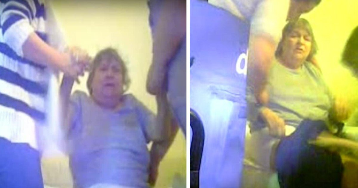 pic copy 6 1.jpg?resize=1200,630 - Care Home Workers Brutally Dragging 71-Year-Old Alzheimer's Patient From Her Bed Caught On Spy Camera