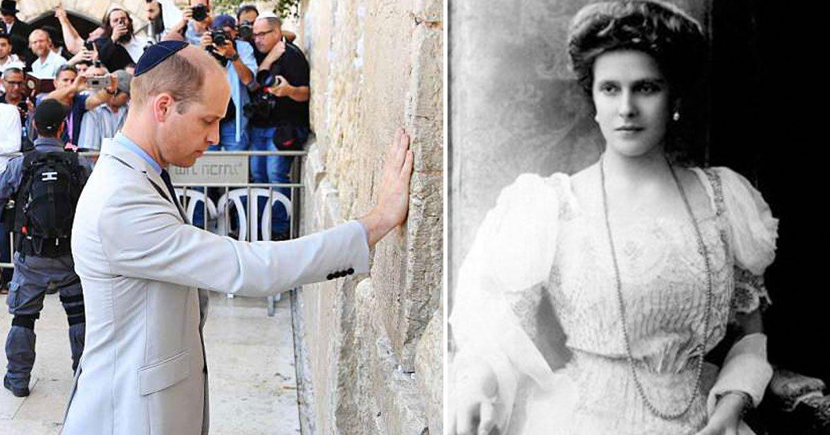prince william visits great grandmother princess alices tomb in jerusalem 1.jpg?resize=636,358 - Prince William Visits Great-Grandmother Princess Alice's Tomb In Jerusalem