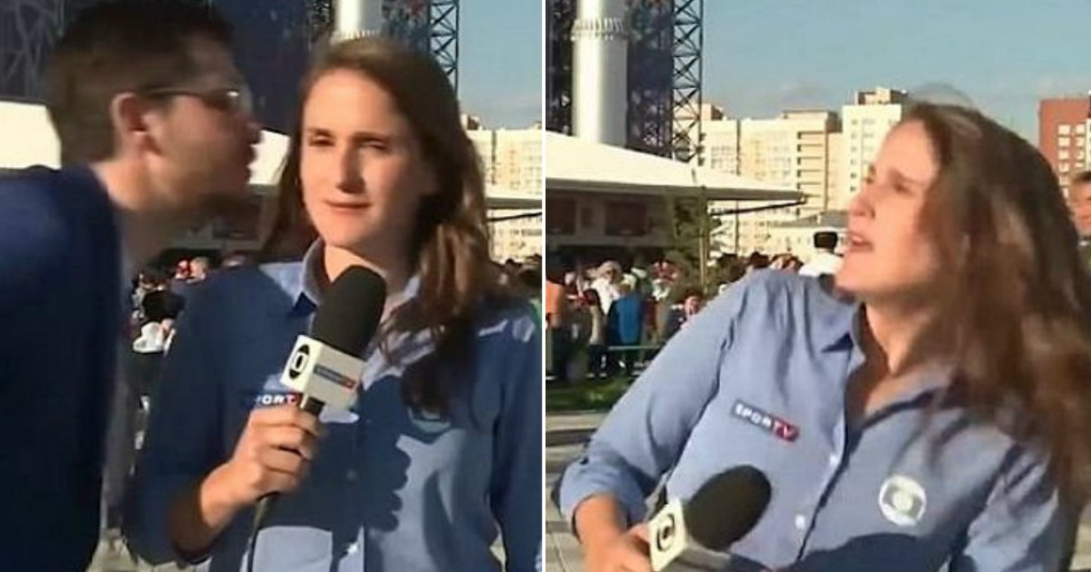 sdfgh.jpg?resize=1200,630 - World Cup Reporter Firmly Dresses Down Man Who Attempted To Kiss Her During Broadcast