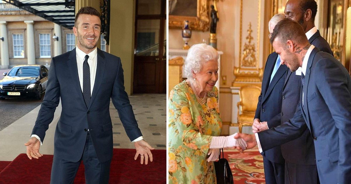 sdfsss.jpg?resize=636,358 - The Beckham Effect: Queen Is All Smiles While Greeting David at Palace Party — See the Photo