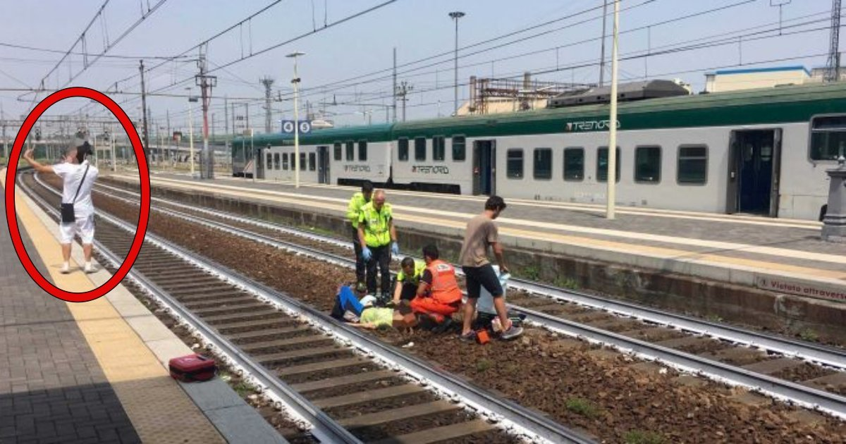 sf.jpg?resize=648,365 - Man Taking 'Selfie' With Critically Injured Woman Who Has Been Hit By Train In The Background Sparks Outrage