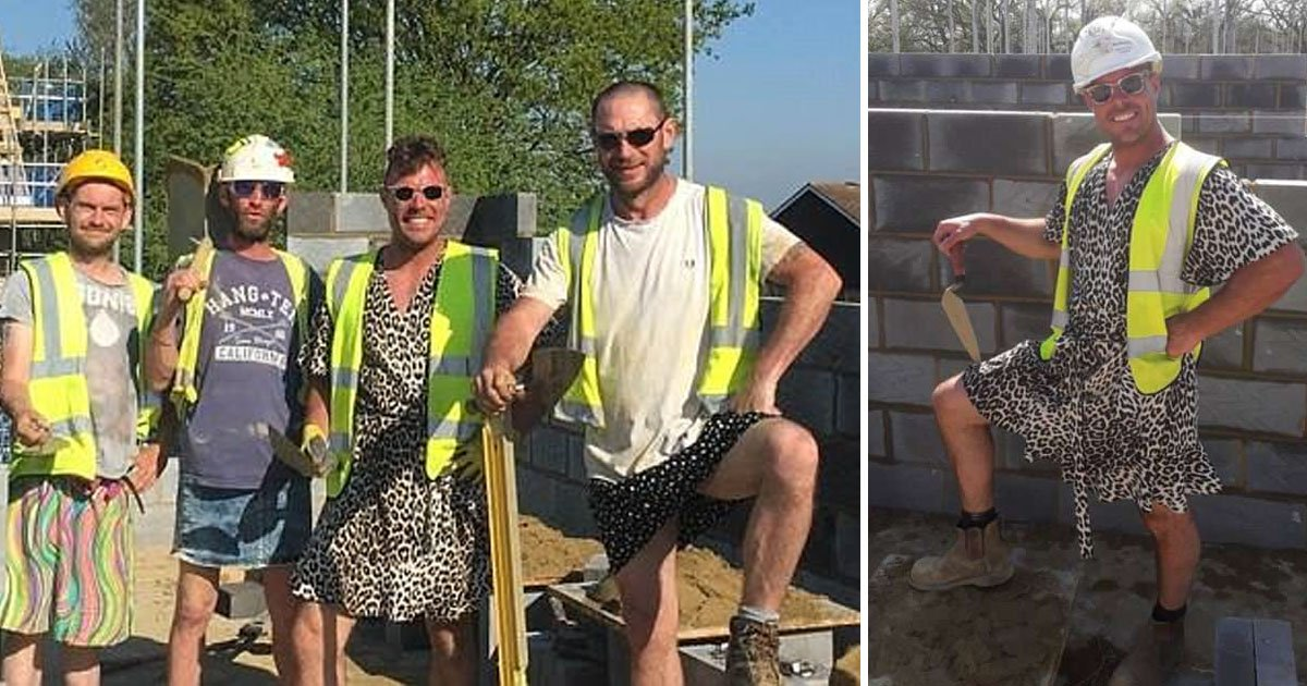 shorts.jpg?resize=412,232 - The Management Banned The Shorts But These Brickies Found A Creative Solution To Keep Themselves Comfortable