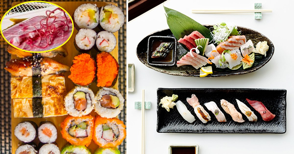 sushi 1.jpg?resize=412,232 - The Raw Fish That's Full of Parasites and Pumped With Carbon Monoxide to Turn it Pink