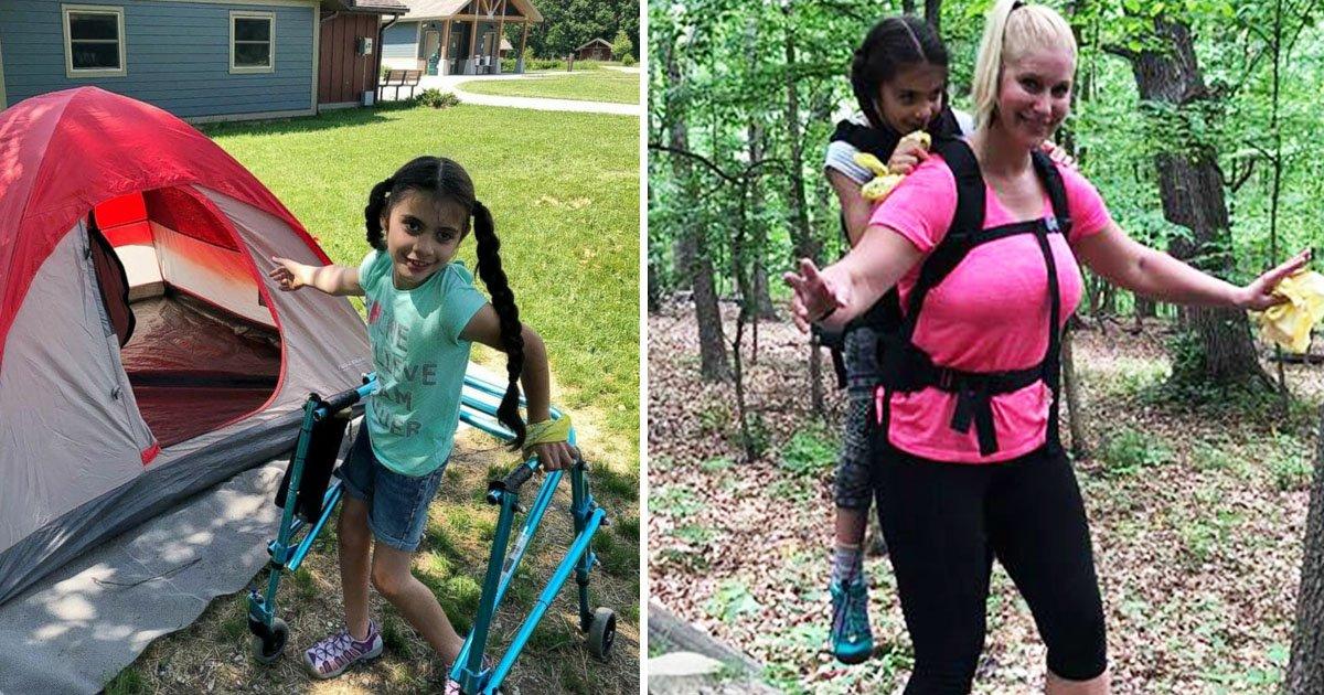 teacher.jpg?resize=412,232 - Une fillette atteinte de paralysie cérébrale part faire du camping grâce à son professeur !
