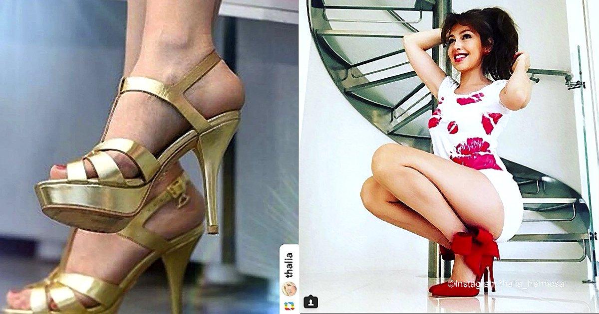 tha.jpg?resize=412,232 - Thalía causa revuelo en las redes sociales tras presumir su armario de zapatos