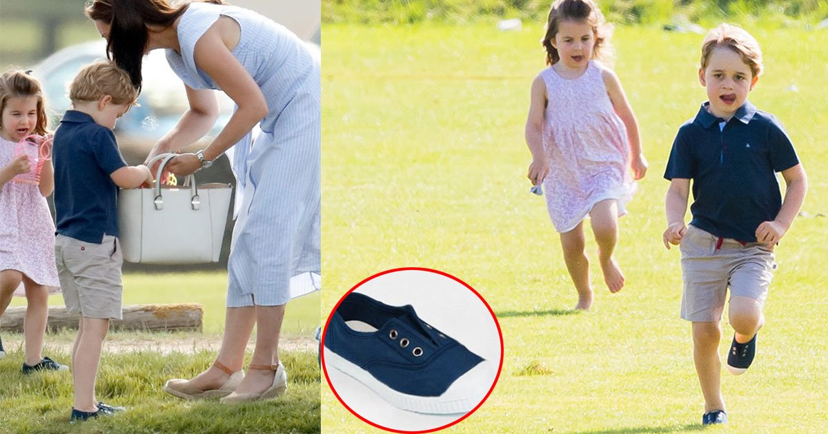 the duchess of cambridge dresses her children in matching canvas shoes that just cost 26.jpg?resize=648,365 - The Duchess of Cambridge Dresses George And Charlotte In Matching Canvas Shoes