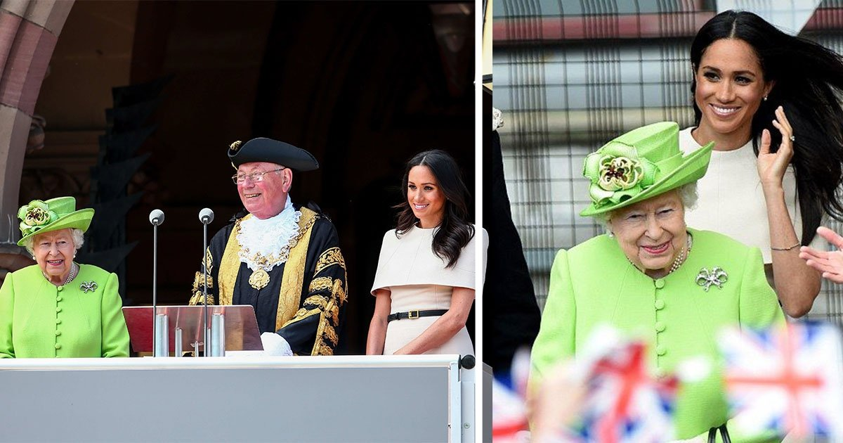 the duchess of sussex joins the queen for their first official royal visit to cheshire 1.jpg?resize=300,169 - Meghan's Sweet Nickname For The Queen Revealed As She Joined The Queen For Their First Official Royal Visit To Cheshire