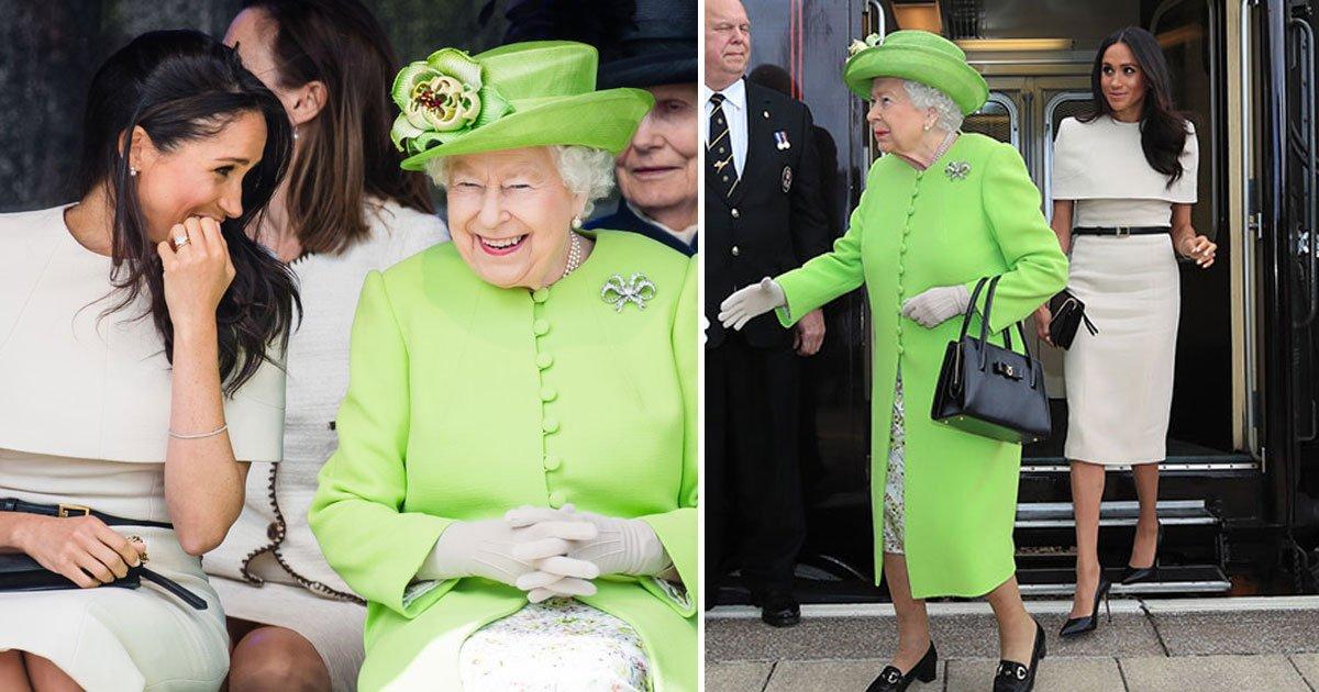 the queen who planned meghan and her joint engagement 1.jpg?resize=300,169 - Foi a própria Rainha Elizabeth quem planejou sair em companhia de Meghan apenas um mês depois do casamento real!