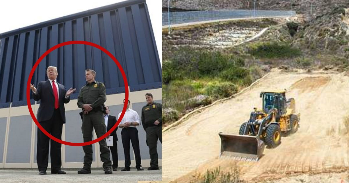 trump wall.jpg?resize=1200,630 - Trump's Border Wall Begins In San Diego; $147 Million Contract For 14-Mile Section In Place