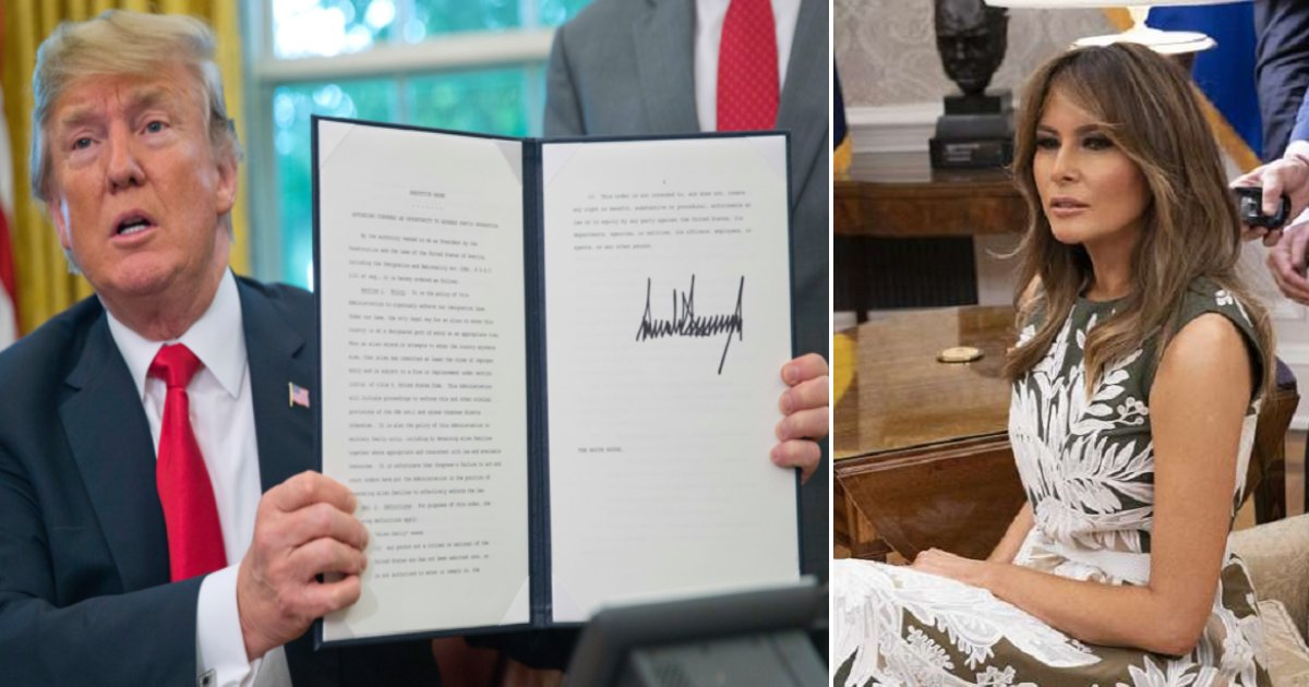 tt side.png?resize=636,358 - Trump Signs Executive Order Ending Family Separation Thanks To Pressure From Melania And Ivanka
