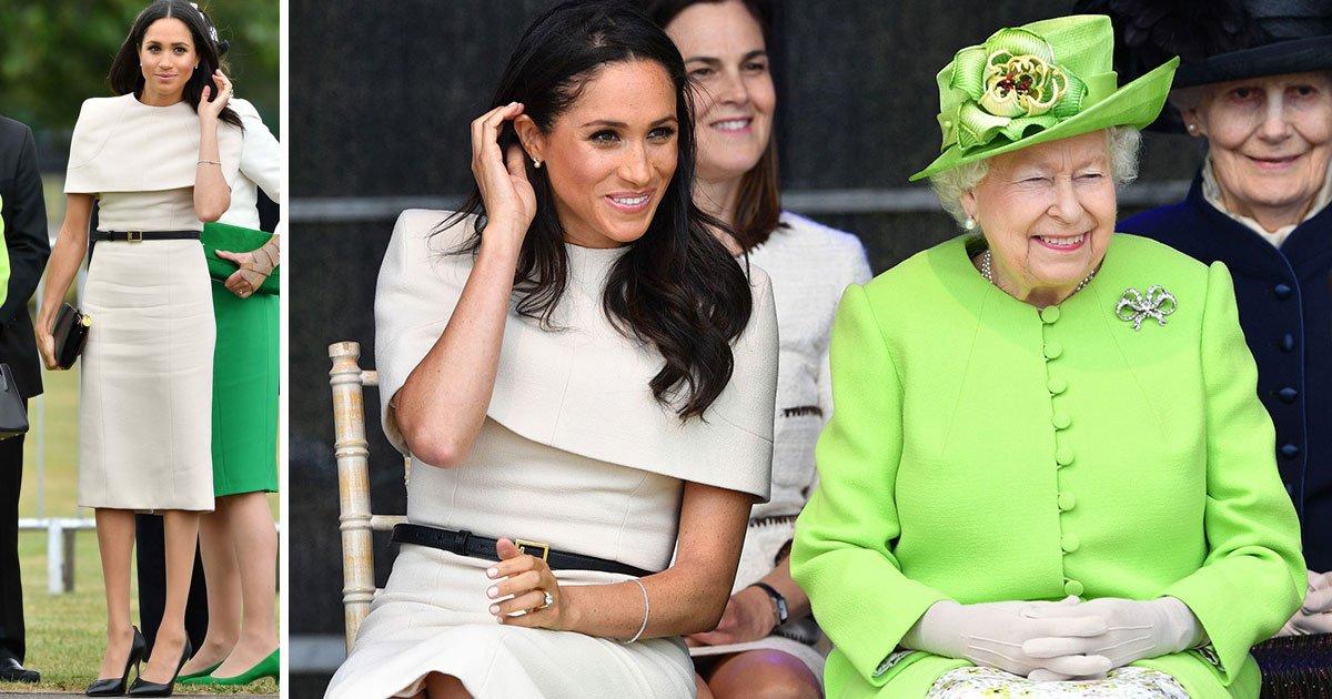 untitled 1 121.jpg?resize=1200,630 - Meghan escolhe vestido Givenchy neutro em sinal de respeito à Rainha