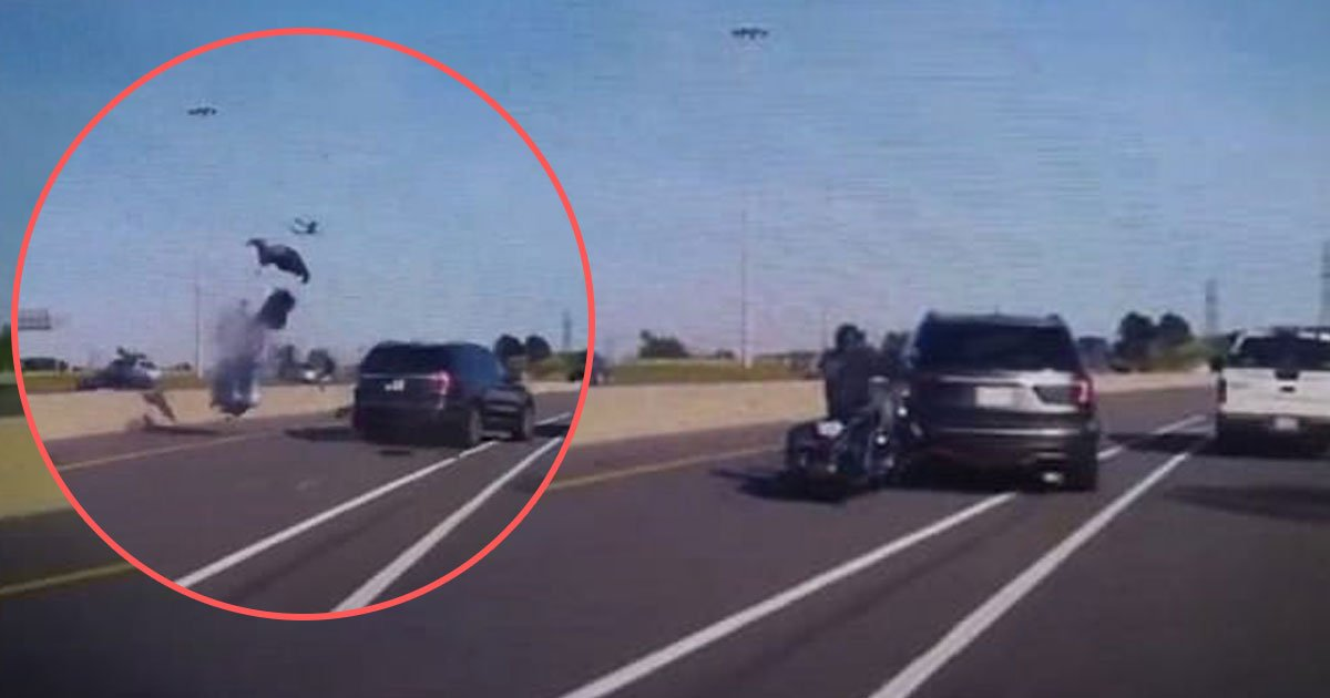 untitled 1 129.jpg?resize=636,358 - Dashcam Footage Shows Female Motorcyclist Fatally Colliding With SUV, Throwing Her High Into The Air