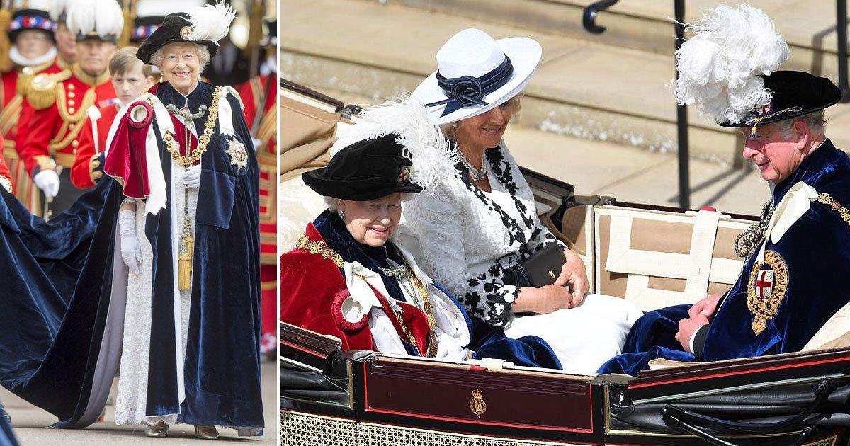 untitled 1 130.jpg?resize=300,169 - Sa Majesté arrive au château de Windsor pour le service annuel de la fête de la Jarretière