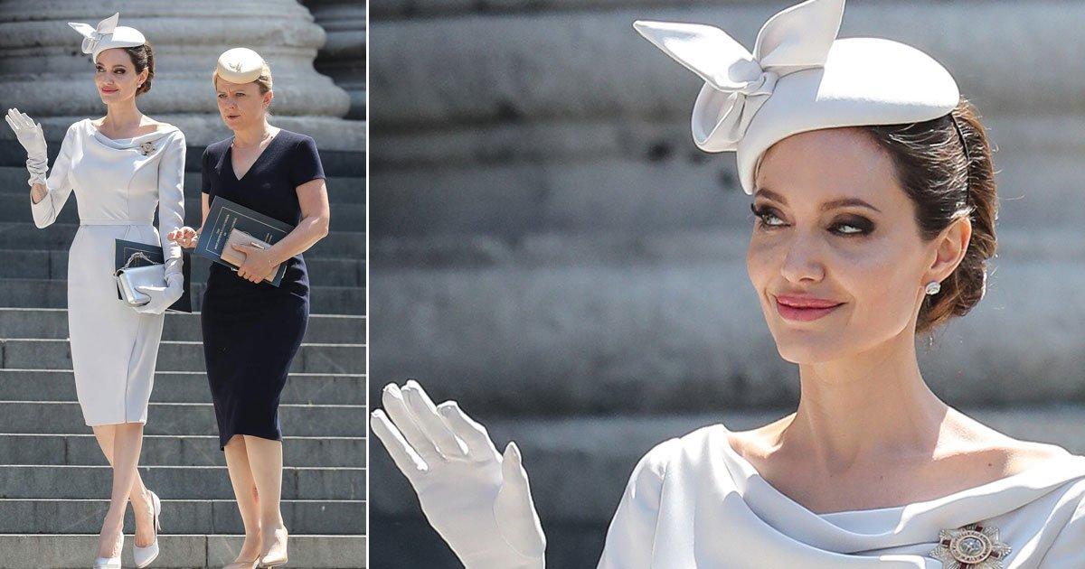 untitled 1 193.jpg?resize=300,169 - Angelina Jolie roba el show cuando llega para asistir al servicio de dedicación en la Catedral de San Pablo