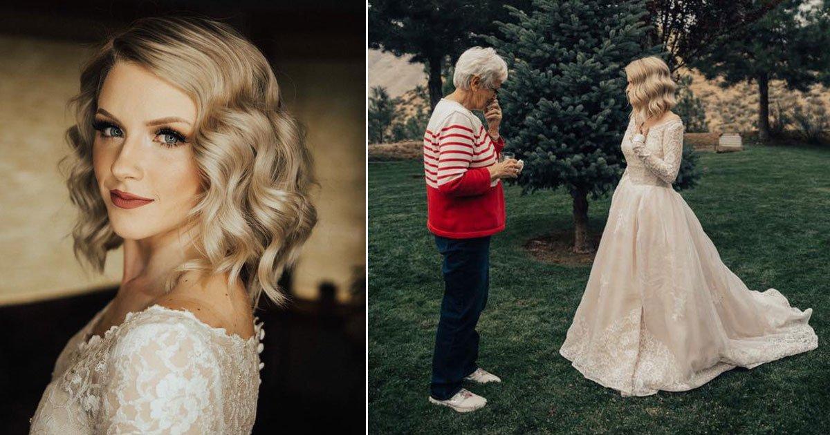 untitled 1 38.jpg?resize=1200,630 - Noiva surpreende a avó vestindo seu vestido de casamento de 1962