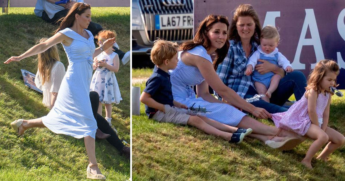 untitled 1 67.jpg?resize=1200,630 - Playful Day Out: Kate's Day Out With Prince George And Princess Charlotte As They All Watch Prince William Competing In The Maserati Royal Charity Polo Trophy