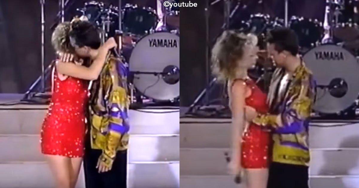 untitled 1 73.jpg?resize=300,169 - Recordamos un video donde Luis Miguel, rechaza a Thalía en pleno escenario y la hace bajar para seguir cantando