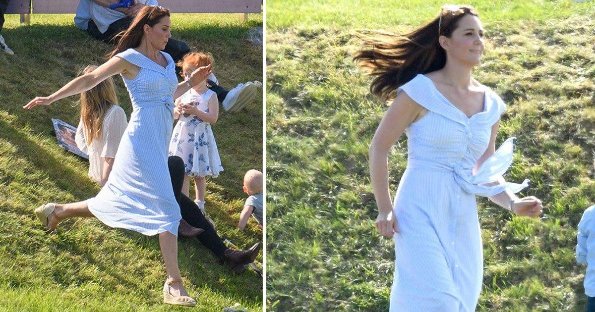 untitled 1 79.jpg?resize=1200,630 - Entenda por que Kate Middleton foi fotografada correndo no Royal Charity Polo com o príncipe George e a princesa Charlotte